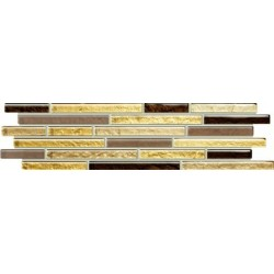 Listwa Venatello brown mosaic 37,2x9,8
