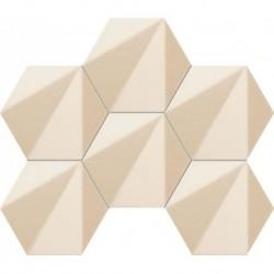 Chenille Beige hex mozaika 22,1X28,9