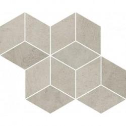 Pure City Grys Mozaika Prasowana Romb Hexagon 20,4X23,8 G.1