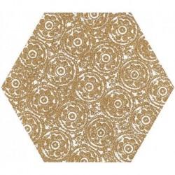Shiny Lines Gold Heksagon Inserto F 19,8X17,1 G.1